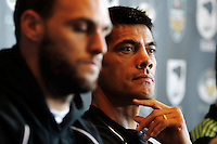 PICTURE BY SIMON WATTS/photosport.co.nz - Rugby League - Anzac Test - New Zealand and Australia Press Conference - Eden Park, Auckland, New Zealand - 19/04/12 - New Zealand's Head Coach Stephen Kearney - Copyright - Photosport NZ/SWpix.com...