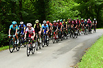 The 29 man breakaway group in action during Stage 7 of the Criterium du Dauphine 2019, running 133.5km from Saint-Genix-les-Villages to Les Sept Laux - Pipay, France. 15th June 2019.<br /> Picture: ASO/Alex Broadway | Cyclefile<br /> All photos usage must carry mandatory copyright credit (© Cyclefile | ASO/Alex Broadway)