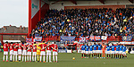24.02.2019 Hamilton v Rangers: Minutes silence onserved before kick off
