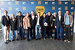 "Rafael Alkorta, Donato, Tv Hosts Michael Robinson, Raul Ruiz, Pedja Mijatovic and Gregorio Manzano during the presentation of the new tv program #0 of Movistar+ ""Caos FC"" at Ciudad del Futbol of Las Rozas in Madrid. November 21, Spain. 2016. (ALTERPHOTOS/BorjaB.Hojas)"