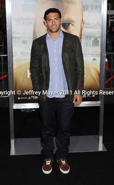 """`HOLLYWOOD, CA - MAY 19: Mark Sanchez. arrives at the Los Angeles premiere of """"The Hangover Part II"""" at Grauman's Chinese Theatre on May 19, 2011 in Hollywood, California."""