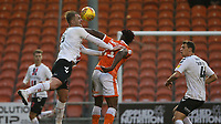 Charlton Athletic's Patrick Bauer and Blackpool's Armand Gnanduillet<br /> <br /> Photographer Stephen White/CameraSport<br /> <br /> The EFL Sky Bet League One - Blackpool v Charlton Athletic - Saturday 8th December 2018 - Bloomfield Road - Blackpool<br /> <br /> World Copyright &copy; 2018 CameraSport. All rights reserved. 43 Linden Ave. Countesthorpe. Leicester. England. LE8 5PG - Tel: +44 (0) 116 277 4147 - admin@camerasport.com - www.camerasport.com