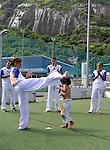 LAUREUS WORLD SPORTS AWARDS 2013, RIO DE JANEIRO, BRAZIL..VISIT TO COMPLEXO ESPORTIVO DA ROCINHA, A SLUM DEVELOPMENT..LAUREUS ACADEMY MEMBER TONY HAWK SKATES WITH LOCAL CHILDREN..11-3-2013 PIC BY IAN MCILGORM