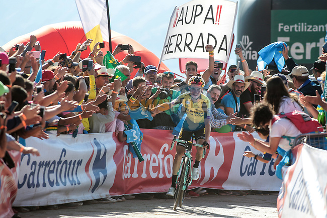 Cycling: Vuelta Espana 2019 / Tour of Spain 2019/ La Vuelta/ Etapa 15/ Stage 15/ .LLEGADA/ ARRIVAL/ SPRINT/ CELEBRACION CELEBRATION/ KUSS Sepp (USA).Tineo - Santuario del Acebo (154,4 km) 08-09-2019/.Vuelta Espana 2019 / La Vuelta/ Tour of Spain 2019/.Luis Angel Gomez .©PHOTOGOMEZSPORT2019
