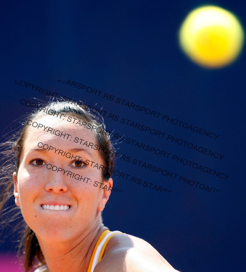Tennis, Fed Cup, Europe/Africa zone group.Serbia Vs. Estonia.Jelena Jankovic.Plovdiv, 18.04.2007..foto: Starsport