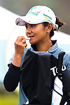 TAOYUAN, TAIWAN - OCTOBER 21: Ai Miyazato of Japan applies lip balm on the 1st tee during day two of the LPGA Imperial Springs Taiwan Championship at Sunrise Golf Course on October 21, 2011 in Taoyuan, Taiwan. (Photo by Victor Fraile/Getty Images)