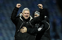 Blackpool's manager Terry McPhillips celebrates a 1-0 victory over Portsmouth with assistant manager Gary Brabin<br /> <br /> Photographer Andrew Kearns/CameraSport<br /> <br /> The EFL Sky Bet League One - Portsmouth v Blackpool - Saturday 12th January 2019 - Fratton Park - Portsmouth<br /> <br /> World Copyright © 2019 CameraSport. All rights reserved. 43 Linden Ave. Countesthorpe. Leicester. England. LE8 5PG - Tel: +44 (0) 116 277 4147 - admin@camerasport.com - www.camerasport.com