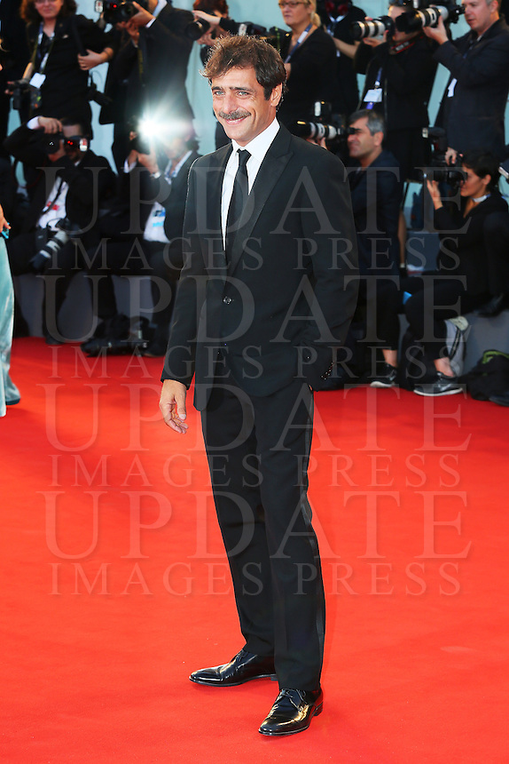 Adriano Giannini attends the red carpet for the premiere of the movie 'Per Amor Vostro' during the 72nd Venice Film Festival at the Palazzo Del Cinema in Venice, Italy, September 11, 2015.<br /> UPDATE IMAGES PRESS/Stephen Richie