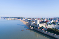 France, Charente Maritime, Fouras, the Fort de Fouras or Semaphore designed by Vauban (aerial view) // France, Charente-Maritime (17), Fouras, le fort de Fouras ou Sémaphore oeuvre de Vauban (vue aérienne)