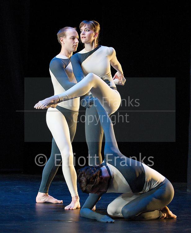 Nearly Ninety<br /> The Merce Cunningham Dance Company <br /> choreography by Merce Cunningham<br /> at The Barbican Theatre, London, Great Britain <br /> rehesrsal <br /> 26th October 2010 <br /> <br /> <br /> <br /> Silas Riener<br /> Jamie Scott<br /> John Hinrichs<br /> <br /> <br /> Photograph by Elliott Franks<br /> 2010&copy;Elliott Franks