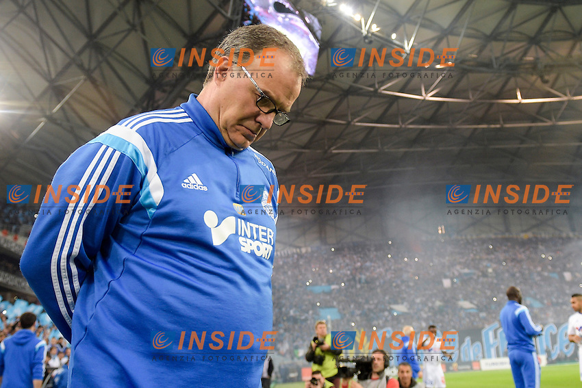 Marcelo BIELSA - entraineur (OM) <br /> Football Calcio 2014/2015<br /> Ligue 1 Francia Stadio VelodromeOlympique Marsiglia - Paris Saint Germain <br /> Foto Panoramic / Insidefoto <br /> ITALY ONLY