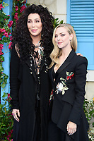 Cher &amp; Amanda Seyfried arriving for the &quot;Mama Mia! Here We Go Again&quot; world premiere at the Eventim Apollo, Hammersmith, London, UK. <br /> 16 July  2018<br /> Picture: Steve Vas/Featureflash/SilverHub 0208 004 5359 sales@silverhubmedia.com