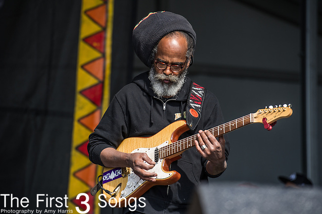 The Wailers performs during the New Orleans Jazz & Heritage Festival in New Orleans, LA.