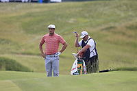Bryson DeChambeau (USA) in a bunker at the 3rd green during Friday's Round 2 of the 117th U.S. Open Championship 2017 held at Erin Hills, Erin, Wisconsin, USA. 16th June 2017.<br /> Picture: Eoin Clarke | Golffile<br /> <br /> <br /> All photos usage must carry mandatory copyright credit (&copy; Golffile | Eoin Clarke)
