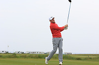 Matthew McClean (Malone) on the 1st tee during Round 1of the Flogas Irish Amateur Open Championship 2019 at the Co.Sligo Golf Club, Rosses Point, Sligo, Ireland. 16/05/19<br /> <br /> Picture: Thos Caffrey / Golffile<br /> <br /> All photos usage must carry mandatory copyright credit (© Golffile | Thos Caffrey)