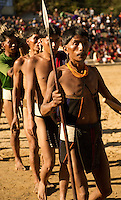 Lifescape Image of a Naga tribal with headhunting and cannibal ancestry. Unique costumes and jewelry are worn during the festivals. Hornbill festival, Nagaland, India