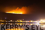 Hell Mountain or Coonanaspig looking down on Portmagee where yet another gorse fire raged on Tuesday and Tuesday night.