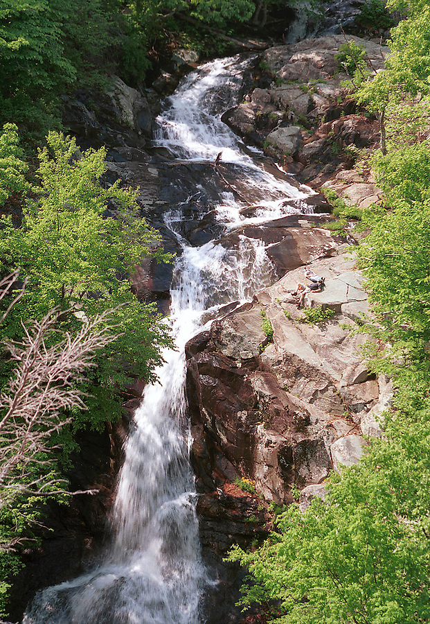 White oak canyon falls in the shenandoah national forest.