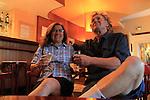 Beth and John celebrating in Paris, France, Europe.