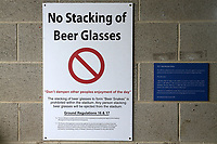 No Stacking Of Beer Glasses signage during Yorkshire CCC vs Essex CCC, Specsavers County Championship Division 1 Cricket at Emerald Headingley Cricket Ground on 15th April 2018