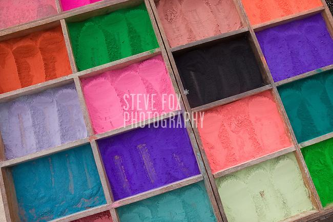 Bindhi powder being sold around Pashupati, Kathmandu, Nepal