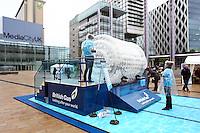 PICTURE BY VAUGHN RIDLEY/SWPIX.COM...Swimming - British Gas Great Salford Swim 2011- Salford Quays, Manchester, England - 15/05/11...The Zorb.