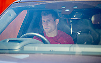 20th May 2020, Melwood Training ground, Liverpool, England;  Liverpools James Milner leaves Melwood in Liverpool after training on May 20, 2020. The Premier League clubs are allowed to start small-group training from Tuesday after the top-flight football league in England was suspended on March 13 due to coronavirus outbreak.