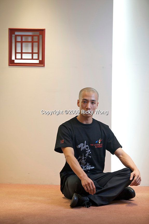 "Du Liang, Principle Dancer, poses for pictures in the office of China Heaven Creation. ""Chun Yi: The Legend of Kungfu"" is an entertaining piece of drama, which has been showing for consecutive five years in Beijing, China."
