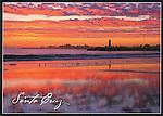 FB 352, 5x7 postcard,  Twin Lakes State Beach, sunset, Walton Lighthouse