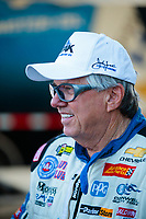 Jun 7, 2019; Topeka, KS, USA; NHRA funny car driver John Force during qualifying for the Heartland Nationals at Heartland Motorsports Park. Mandatory Credit: Mark J. Rebilas-USA TODAY Sports