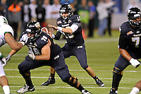 20 December 2011:  FIU quarterback Wesley Carroll (13) takes a snap in the first quarter as the Marshall University Thundering Herd defeated the FIU Golden Panthers, 20-10, to win the Beef 'O'Brady's St. Petersburg Bowl at Tropicana Field in St. Petersburg, Florida.