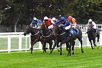 Winner of The Irish Stallion Farms EBF Fillies' Nursery Stakes Rania (8) ridden by Jason Watson and trained by Sylvester Kirk during Horse Racing at Salisbury Racecourse on 11th September 2020
