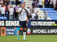 Bolton Wanderers' David Wheater applauds the home fans at the end of the match<br /> <br /> Photographer Andrew Kearns/CameraSport<br /> <br /> The EFL Sky Bet Championship - Bolton Wanderers v Bristol City - Saturday August 11th 2018 - University of Bolton Stadium - Bolton<br /> <br /> World Copyright &copy; 2018 CameraSport. All rights reserved. 43 Linden Ave. Countesthorpe. Leicester. England. LE8 5PG - Tel: +44 (0) 116 277 4147 - admin@camerasport.com - www.camerasport.com