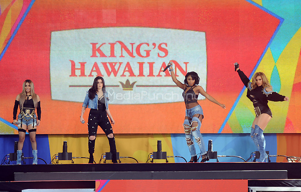 NEW YORK, NY - June 2: Dinah Jane, Normani Kordel , Ally Brooke and Lauren Jauregui of Fifth Harmony  perform at the Rumsey Playfield in Central Park for the 2017 Good Morning America Concert Series on May 26, 2017 in New York City. Photo by : John Palmer/MediaPunch
