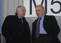 Former Scotland coach Craig Brown chats with St Mirren Assistant Manager Tommy Craig before the Scotland v Luxembourg UEFA Under 21 international qualifying match at St Mirren Park, Paisley on 6.9.12.