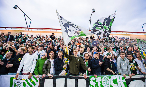 S&ouml;dert&auml;lje 2014-05-18 Fotboll Superettan Syrianska FC - Hammarby IF :  <br /> Hammarby supportrar<br /> (Foto: Kenta J&ouml;nsson) Nyckelord:  Syrianska SFC S&ouml;dert&auml;lje Fotbollsarena Hammarby HIF Bajen supporter fans publik supporters