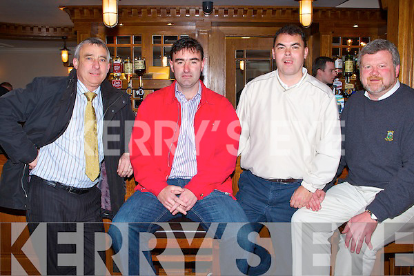 GUEST: Attending the re-opening of the newly Fubish Kerins O'Rahillys Bar, Starnd Road Tralee on Monday l-r: Ogie Moran,              , Paul Hayes and Eoin Liston.   Copyright Kerry's Eye 2008