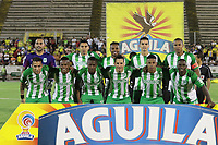 NEIVA - COLOMBIA, 23-09-2018: Jugadores de Atletico Nacional posan para una foto previo al partido entre Atlético Huila y Atletico Nacional por la fecha 11 de la Liga Águila II 2018 jugado en el estadio Guillermo Plazas Alcid de la ciudad de Neiva. / Players of Atletico Nacional pose to a photo prior the match between Atletico Huila and Atletico Nacional for the date 11 of the Aguila League II 2018 played at Guillermo Plazas Alcid in Neiva city. VizzorImage / Sergio Reyes / Cont