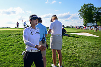 Sung Hyun Park (KOR) heads for the 16th tee during Sunday's final round of the 72nd U.S. Women's Open Championship, at Trump National Golf Club, Bedminster, New Jersey. 7/16/2017.<br /> Picture: Golffile | Ken Murray<br /> <br /> <br /> All photo usage must carry mandatory copyright credit (&copy; Golffile | Ken Murray)
