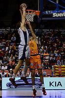 Lucic vs Pozas<br /> Liga Endesa ACB - 2014/15<br /> J6<br /> Valencia Basket vs Rio Natura Monbus Obradoiro