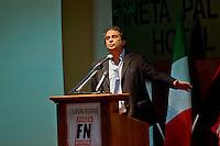 Roma 1 Marzo 2014<br /> Riunione  dei partiti dell'ultradestra europea  per un convegno dal titolo &ldquo;L&rsquo;Europa Risorge&rdquo;. Il segretario Nazionale di Forza Nuova Roberto Fiore.<br /> Rome, March 1, 2014<br /> Meeting of the ultra-right European parties for a conference entitled &quot;Europe is resurrects .&quot;  The National Secretary of New Force (Forza Nuova), Roberto Fiore