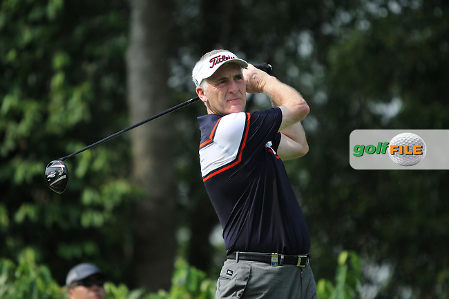 Phillip Price (WAL) on the 2nd tee during the resumed Round 3 of the 2013 Maybank Malaysian Open, Kuala Lumpur Golf and Country Club, Kuala Lumpur, Malaysia 24/3/13...(Photo Jenny Matthews/www.golffile.ie)
