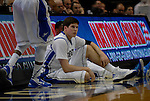Creighton Bluejays forward Doug McDermott (3) waits to be subbed back into the first quarterfinal game of the Missouri Valley Conference Tournament. The Creighton University Bluejays defeated the Drake Bulldogs 65-53 on Friday March 8, 2013 at the Scottrade Center in St. Louis, Missouri.