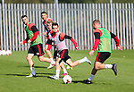 Danny Lafferty of Sheffield Utd Louis Reed of Sheffield Utd Stefan Scougall of Sheffield Utd during the Sheffield Utd training session at the Shirecliffe Training Complex , Sheffield. Picture date: September 29th, 2016. Pic Simon Bellis/Sportimage