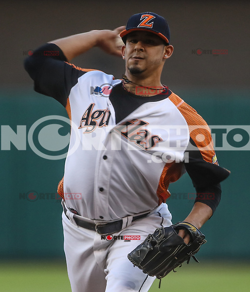 Wilfredo Boscan pitcher inicial de Venezuela, durante el partido de beisbol de la Serie del Caribe entre Alazanes de Granma Cuba vs las &Aacute;guilas del Zulia Venezuela en el Nuevo Estadio de los Tomateros en Culiacan, Mexico, Sabado 4 Feb 2017. Foto: Luis Gutierrez/NortePhoto.com.    ****<br /> <br /> Actions, during the Caribbean Series baseball match between Granma Cuba vs Alajuelas de Zulia Venezuela at the New Tomateros Stadium in Culiacan, Mexico, Saturday 4 Feb 2017. Photo: Luis Gutierrez / NortePhoto.com