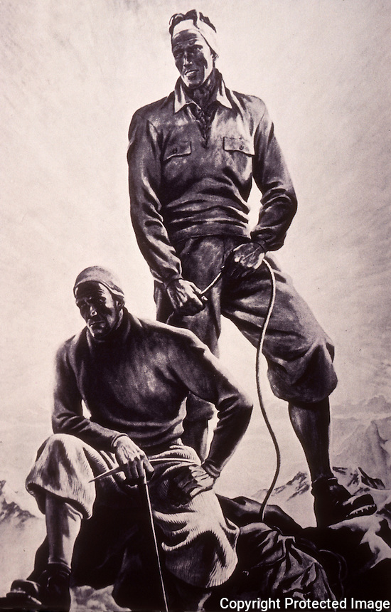 "Nazi Art:  ""Mountain Climbers at the Peak"", Ernst Kretzschmann.  Reference only."