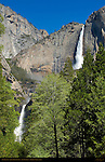 Yosemite Falls from John Muir Cabin Site in Spring, Yosemite National Park