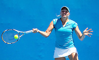 KAIA KANEPI (EST) against JOHANNA LARSSON (SWE) in the first round of the women's Singles. Kaia Kanepi  beat Johanna Larsson 6-2 6-4 ..17/01/2012, 17th January 2012, 17.01.2012..The Australian Open, Melbourne Park, Melbourne,Victoria, Australia.@AMN IMAGES, Frey, Advantage Media Network, 30, Cleveland Street, London, W1T 4JD .Tel - +44 208 947 0100..email - mfrey@advantagemedianet.com..www.amnimages.photoshelter.com.