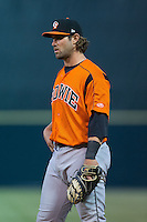 Bowie Baysox first baseman Sean Halton (24) on defense against the Richmond Flying Squirrels at The Diamond on May 23, 2015 in Richmond, Virginia.  The Baysox defeated the Flying Squirrels 3-2.  (Brian Westerholt/Four Seam Images)
