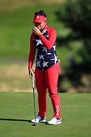 Megan Khang of Team USA on the 8th green during Day 1 Foursomes at the Solheim Cup 2019, Gleneagles Golf CLub, Auchterarder, Perthshire, Scotland. 13/09/2019.<br /> Picture Thos Caffrey / Golffile.ie<br /> <br /> All photo usage must carry mandatory copyright credit (© Golffile | Thos Caffrey)